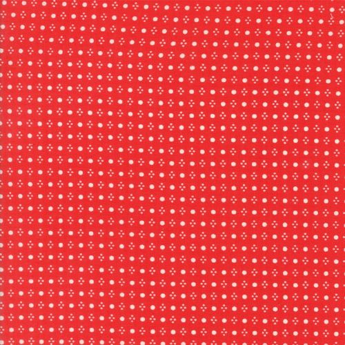 Moda - Handmade, Spots - Red Cotton Patchwork Fabric